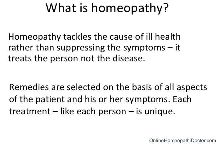 Image Explaining What is Homeopathy